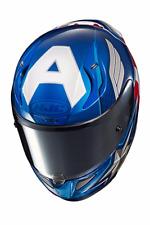 HJC RPHA 11 PRO MARVEL CAPTAIN AMERICA MOTORCYCLE HELMET LARGE FREE DARK SHIELD