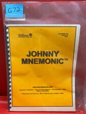 Johnny Mnemonic Pinball Operations/Service/Repair /Troubleshooting Manual G72