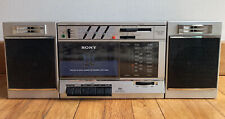 """Vintage Boombox Sony Cfs-3000 """"Transound"""" Fm/Am Stereo Cassette Recorder Tested!"""
