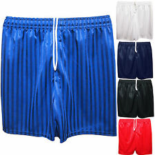 Boys Girls Unisex Kids Children Shadow Stripe Pe Football Shorts School Sports
