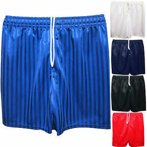 Unisex Boys Girls Kids Childrens School Sports Shadow Stripe Football PE Shorts