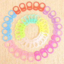 10 Colors 50 Mam Baby Pacifier Holders Silicone Dummy Adapters Ring Clips