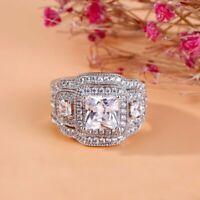 Princess Cut Diamond 2Ct Engagement Wedding Bridal Ring Band 14k White Gold Over