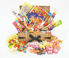 DELUXE WICKER Style RETRO SWEET HAMPER Birthday Thank you Father's Day Fathers