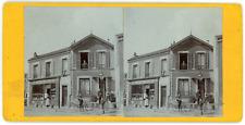 Stereo, France, Epicerie-fruiterie dans une petite ville à identifier, circa 190