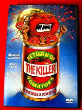 Return of the Killer Tomatoes LN DVD OOP George Clooney John Astin Karen Mistal