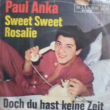 "7"" 1964 Sung German VG +! Paul Anka SWEET SWEET Rosalie"