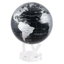 "Black and Silver MOVA Globe 4.5"" SPINNING"