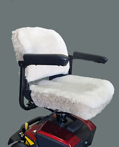 Travel Mobility Scooter Sheepskin Seat Cover - Medium