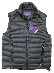 $600 Ralph Lauren Purple Label Navy Quilted Vest Size XL