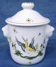 Pot à coton coffret salle de bain en FAIENCE DE MOUSTIERS céramique peint main