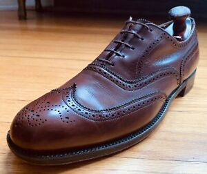 Dack's Exotic Custom Grade Brown Calf Shortwing Wingtip Shoes 12B Vintage EUC