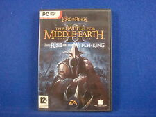 pc LORD RINGS Battle For Middle Earth II 2 RISE OF THE WITCH KING Expansion Pack