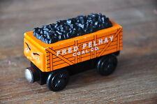 THOMAS TANK TRAIN Wooden Railway Engine Carriage - FRED PELHAY COAL CO