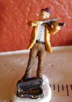 Grandeur Noel Village Violinist Violin Player Christmas 2001  miniature