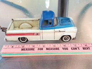 Vintage Tin Friction SSS Japan 58 Chevy Apache Toy