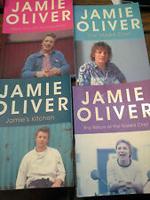Jame Oliver The naked chef Jamie's kitchen the return Happy days 4 books