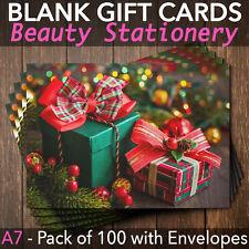 Christmas Gift Vouchers Blank Beauty Salon Card Nail Massage x100 A7+Envelopes