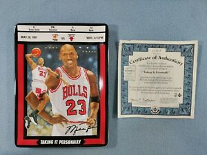 """MICHAEL JORDAN """"TAKING IT PERSONALLY"""" UPPER DECK COLLECTOR PLATE WITH COA"""