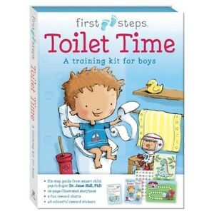 Toilet Training Time for Boys Educating Book 2 x Rewards Charts & 48 Stickers