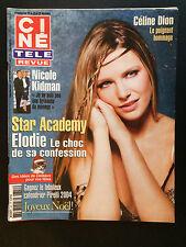 CINE REVUE 2003 N°51 elodie frege celine dion