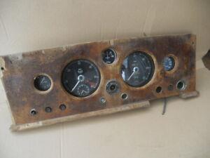 Jaguar Mk1 /2 centre Instrument panel Clocks for restoration us import