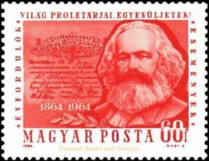 EBS Hungary 1964 - Karl Marx - 1st Internationale Centenary - Michel 2068A MNH**