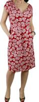 WHITE STUFF LADIES SHIFT SKATER DRESS RED TURTLE PRINT LENA Sizes 8 10 12 18 UK