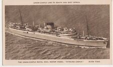 Union Castle Royal Mail Motor Vessel Stirling Castle Shipping Postcard, US001