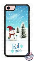 Christmas Snowman Let it Snow Winter Phone Case Cover for iPhone 11 PRO Samsung