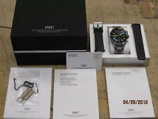 IWC Aquatimer Chronograph Day Date Automatic Dive Watch IW376708 BOTH Bands
