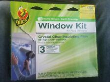 "Plastic Shrink Film Indoor Window Kit 62"" x126"" Heat Insulation Draft Clear Wrap"