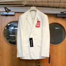 Size 46R Men's White Cotton Suit Jacket - 46 Regular - Good Condition