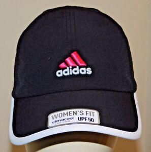 adidas adizero ladies running Cap Black/ White/pink climacool UPF50 3D embroider