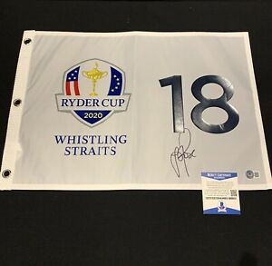 Justin Rose Signed 2020 Ryder Cup Authentic Flag - Beckett BAS #BB88010