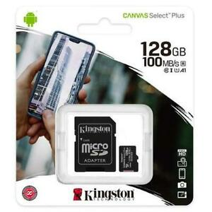 KINGSTON 128GB Micro SD SDHC MEMORY CARD CLASS 10 MEMORY With SD CARD ADAPTER