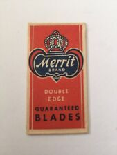 Merit Collectible Vintage Razor Blade V98. Fresh Off Broadway New York, Ny