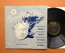 VOX PL 8650 Beethoven Sonata 15 21 25 & 26 Orazio Frugoni EXCELLENT Vinyl