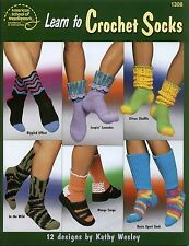 LEARN TO CROCHET SOCKS 12 Designs American School of Needlework 1308 BOOK