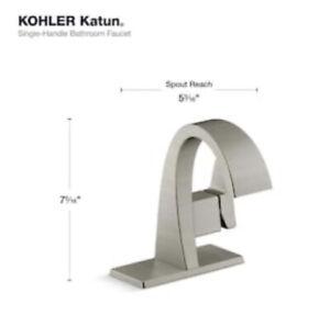 KOHLER Katun Single Handle Bathroom Faucet Brushed Nickel R78037-4D-BN BRAND NEW