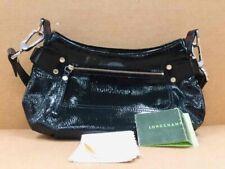 Longchamp Shoulder Bag Black Leather Purse