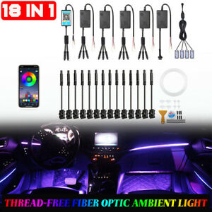 6m RGB LED Light Strip Car Interior Atmosphere Lamp 18in1 For Mercedes Benz