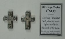 zze Love Blessings Pocket Cross token charm carry faith with you