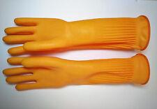 Haushaltshandschuhe orange 39cm extra lang Gr.L Gummihandschuhe rubber gloves#18