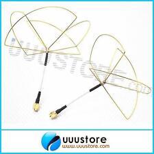 2pcs 1.2GHz Clover Leaf mashroom Antenna Circular Polarized SMA male for TX RX