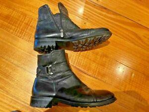 Redwood Men's Italian strap boot rubber sole size 41 fur inside mr porter boots