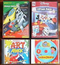 4 X ARTE CREATIVA Games. PC CD ROM. DISNEY. ART ATTACK. Dora. Green Street SPAZIO