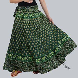 Damen Langer Rock Indien Traditionell Bekleidung Designer Für Feder Sommer /