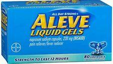 Aleve Pain Reliever/Fever Reducer, 220 mg, Liquid Gels, 80 ct No Box