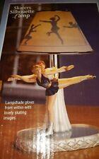 Silhouette Lamp Shade Lampshade Ice Skating Sport Silver Lamp